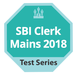 SBI Clerk Mains 2018 TestSeries