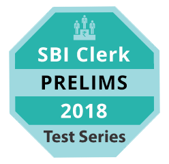 SBI Clerk Prelims 2018 Test Series